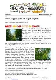 Infothek-Waldkinder - GRATIS Waldbrief Juli-August 2013