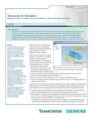 Teamcenter for Simulation Fact Sheet - SOVA Digital