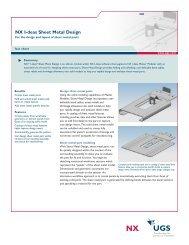 nx i-deas sheet metal design