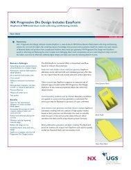 NX Progressive Die Design Includes EasyForm