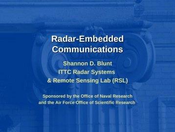 Radar-Embedded Communications