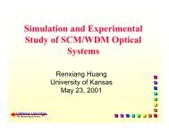 Simulation and Experimental Study of SCM/WDM Optical Systems