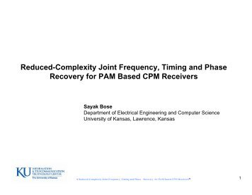 Reduced-Complexity Joint Frequency, Timing and Phase Recovery ...