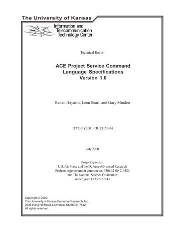 ACE Project Service Command Language Specifications Version 1.0