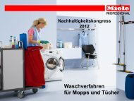 Waschverfahren für Mopps und Tücher - Initiative: minus 15 2%