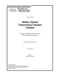 40Gb/s Optical Transmission System Testbed - University of Kansas