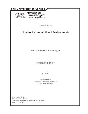 Ambient Computational Environments - Information and ...