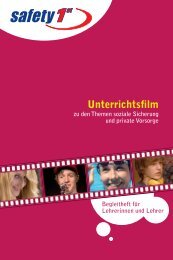 """Der Unterrichtsfilm """"Safety 1st"""" - Jugend und Bildung"""