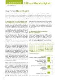 Das Prinzip Nachhaltigkeit - MitVerantwortung – Sozial und ...