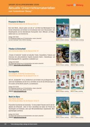 Aktuelle Unterrichtsmaterialien - Jugend und Bildung