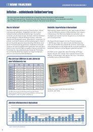 Inflation – schleichende Geldentwertung