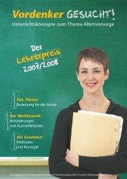 Die Broschüre - vordenker-gesucht - Das Thema - Jugend und Bildung