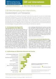 CSR-Berichterstattung von Unternehmen - Jugend und Bildung