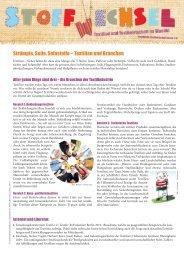 Strümpfe, Seile, Sofastoffe – Textilien und Branchen - Jugend und ...