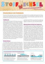 Virtuelles Wasser in der Textilindustrie - Jugend und Bildung