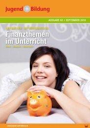 Finanzthemen im Unterricht - Jugend und Bildung