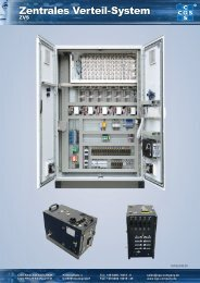 Zentrales Verteil-System - CGS Analysentechnik