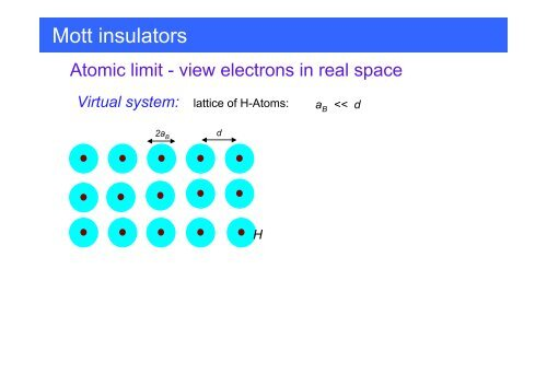 Mott insulators