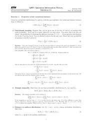 QSIT: Quantum Information Theory. Solutions 11.
