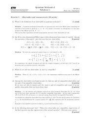 Quantum Mechanics I Solutions 1.