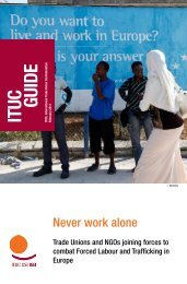 Never Work Alone - ITUC