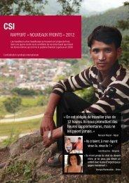 rapport « Nouveaux fronts » 2012 de la CSI - ITUC