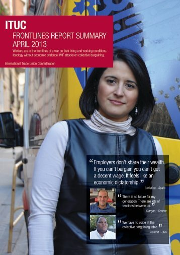 FRONTLINES REPORT SUMMARY APRIL 2013 - ITUC