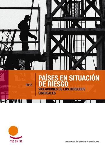 PAÍSES EN SITUACIÓN DE RIESGO - ITUC