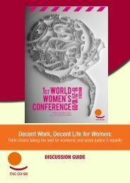 1st world women's conference - ITUC