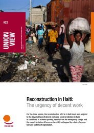 Reconstruction in Haiti - ITUC
