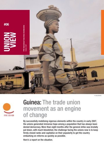 Union View: Guinea - World Day for Decent Work