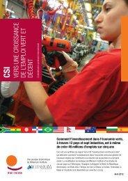 CSI Vers une croissance de l'emploi Vert et décent ... - ITUC