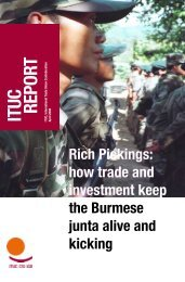 ITUC RepoRT ITUC RepoRT - World Day for Decent Work
