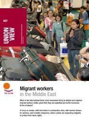 Union View: Jordan - World Day for Decent Work