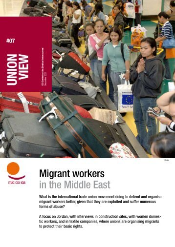 Union View: Jordan - World Day for Decent Work