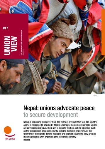 """Union View"" report: Nepal - ITUC"