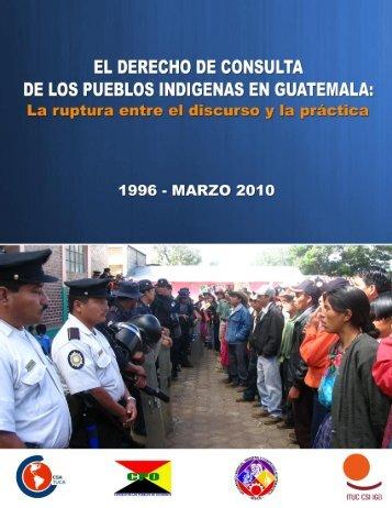 consulta de los pueblos indígenas en Guatemala - GOLDCORP ...