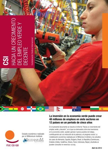 CSI Hacia un crecimiento del empleo verde y decente ... - ITUC
