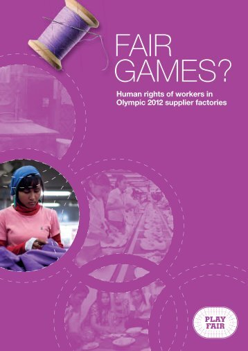 Fair Games? Human rights of workers in Olympic 2012 ... - TUC