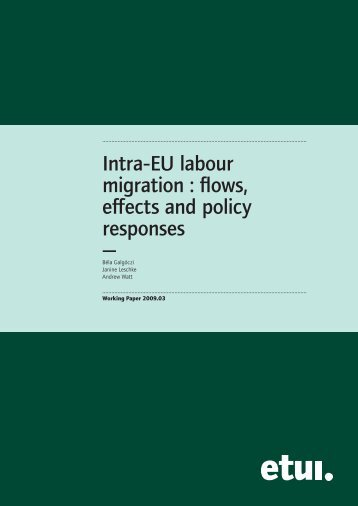 Intra-EU labour migration - ITUC