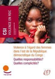 Violence à l'égard des femmes dans l'est de la République ... - ITUC