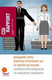 (In)égalité entre hommes et femmes sur le marché du travail