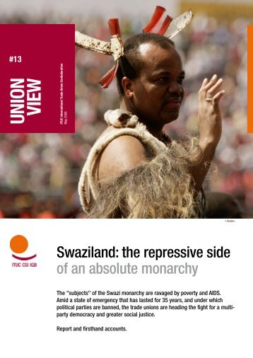 Union View: Swaziland: the repressive side of an absolute monarchy
