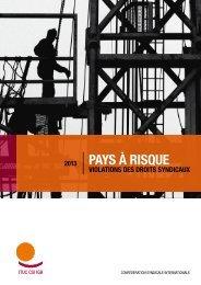 PAYS À RISQUE - ITUC