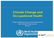 Climate Change and Occupational Health Climate Change ... - ITUC