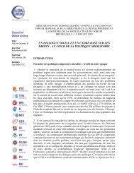 Déclaration du Conseil Global Unions - ITUC