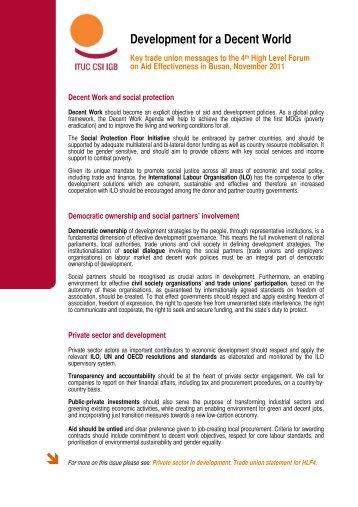 Development for a Decent World - ITUC