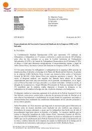 Sr. Mauricio Funes Presidente de la República El Salvador ... - ITUC
