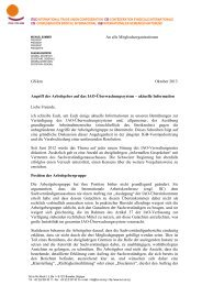 Link zu dem Brief - International Trade Union Confederation