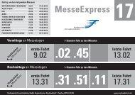 MesseExpress | Linie 17 - Fahrplan 2013